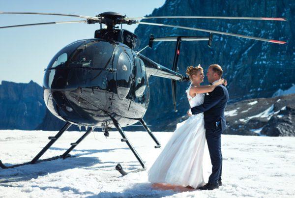 Wedding Switzerland helicopter Patrick Schmetzer photographer
