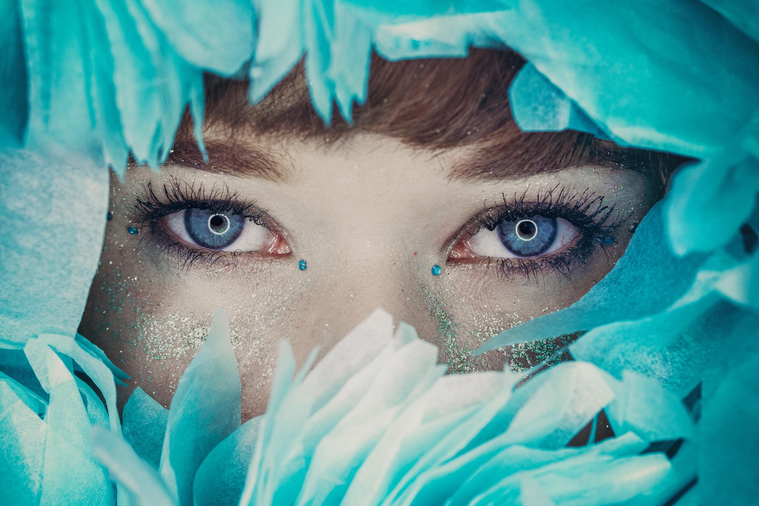 Ice flower portrait