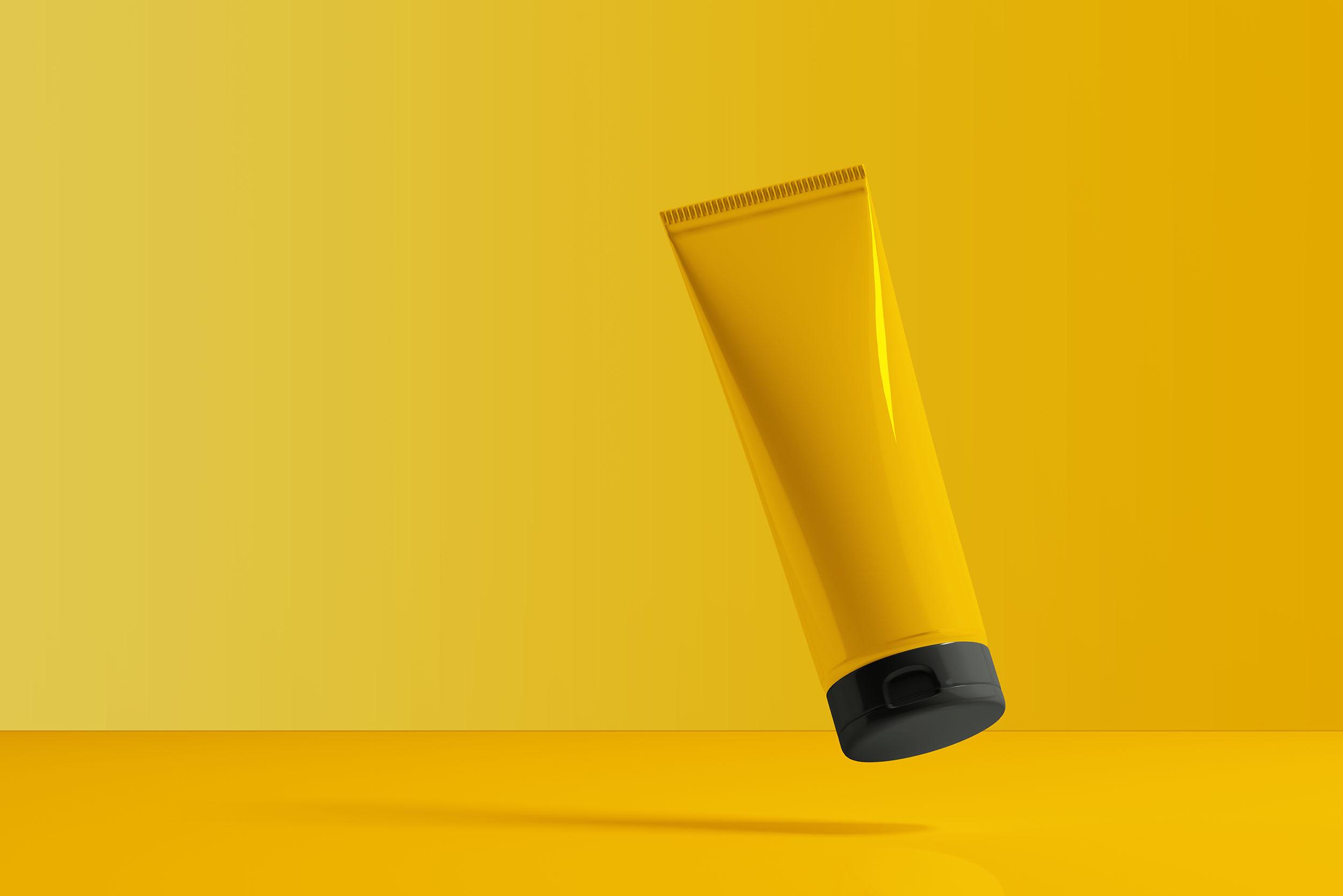 yellow bottle product