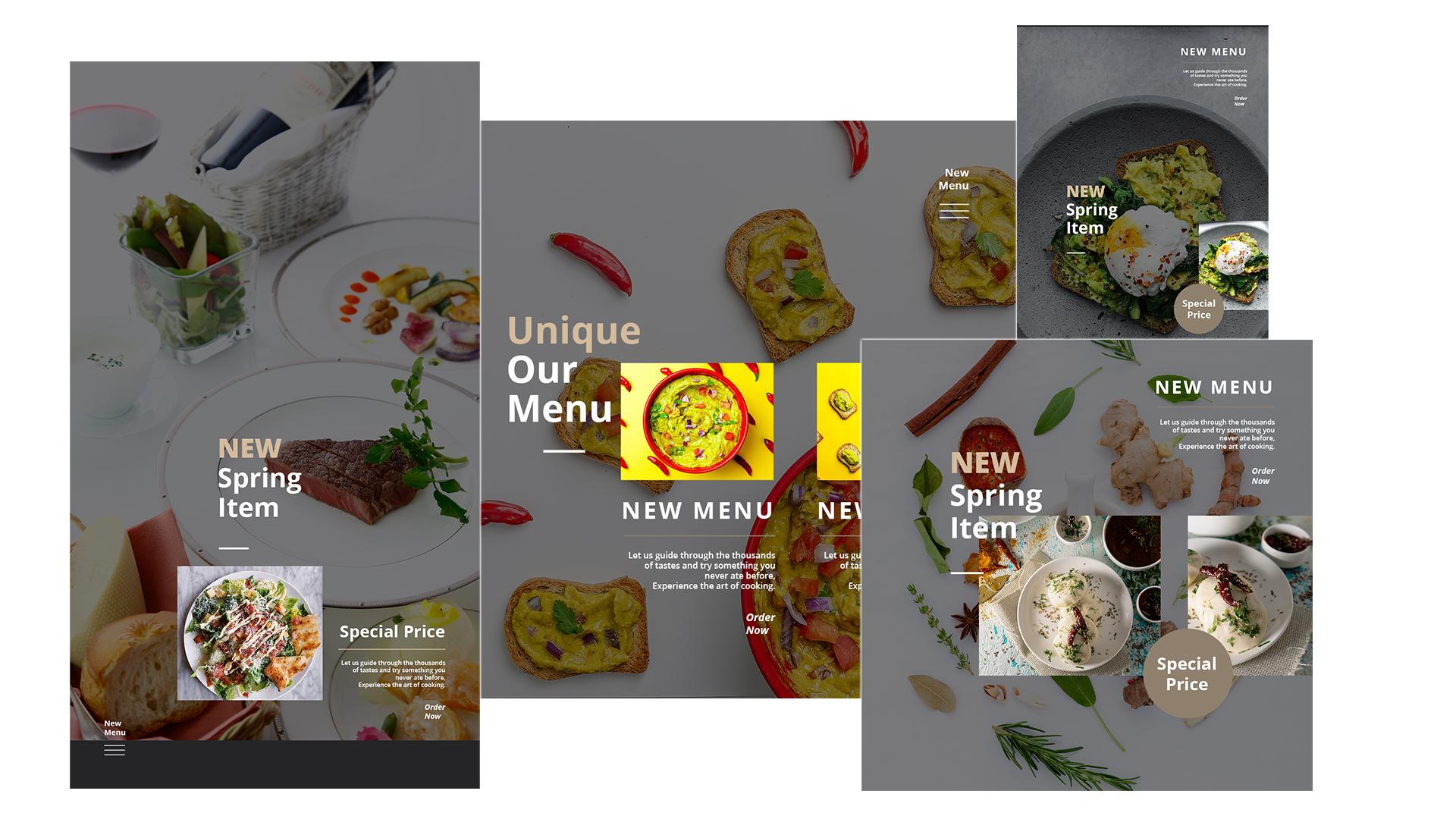 layout2 banner restaurant restaurant photography